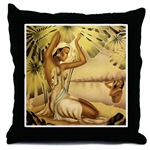 Hawaiian beauties throw pillow