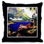 South Sea Isles poster pillow
