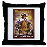 Vintage Hawaiian Throw Pillow