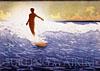 the Duke surfing Waikiki