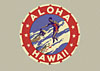Aloha Hawaii surfing label