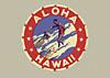 Aloha Hawaii surfing label