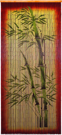 Etonnant Bamboo Beads Curtain, Painted With U0027Bamboo Motifu0027