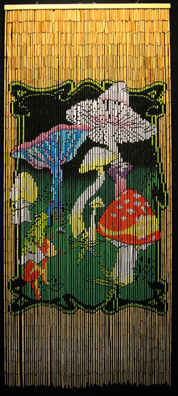 Fantastic Bamboo Beaded Room Divider With Magic Mushrooms Download Free Architecture Designs Itiscsunscenecom