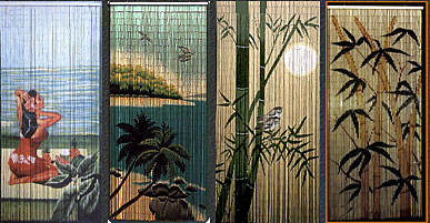 Strand painted bamboo beaded curtain - TheFind